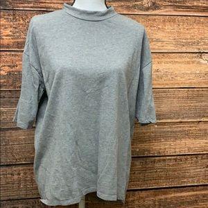 3/$20 Zara Gray Short Sleeve Shirt